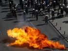 GREECE Protests Over New AUSTERITY Measures. PETROL BOMBS Thrown At Police