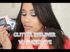 Red Carpet Spunk- Dramatic Winged Glitter Eyeliner with Smoky Eye tutorial