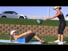 Ab Exercise With a Medicine Ball