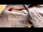 Nanotechnology protection easy to clean Demonstration Jeans Nano4life