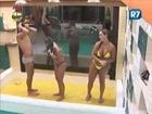 BBB13 Haysam, Isis e Flavia tomam delicioso banho triplo
