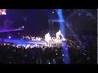 Justin Bieber falls on stage while performing with Carly Rae Jepson...