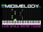 *EXTRA SLOW* *EASY* Live While We're Young One Direction Beginner Synthesia Piano Tutorial 1D