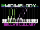 *50% SPEED* Bella's Lullaby Twilight Synthesia Piano Tutorial