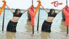 Actress Shobana - Hot Poses with - Wet Black Dress