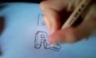 dessiner lettre 3D